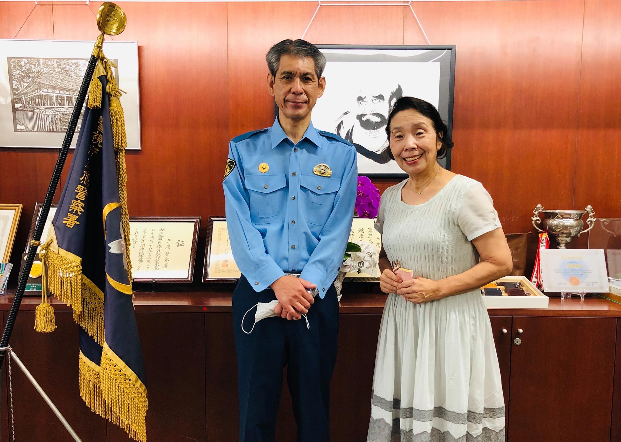 三鷹警察署森田勝也署長が通信指令本部へ異動されることになりました。