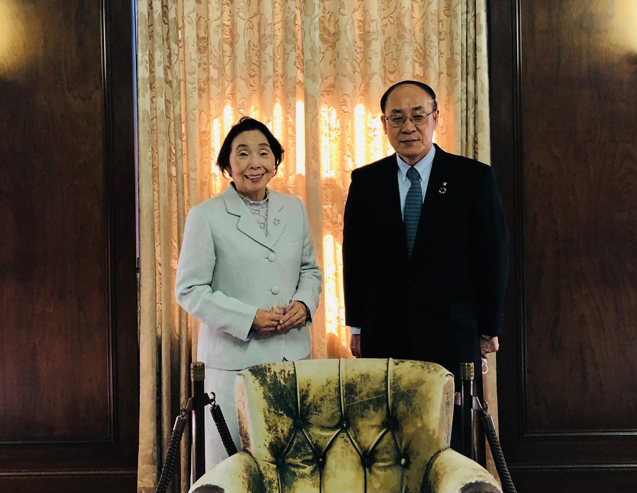 第一生命ホールディングスの渡邉光一郎会長を訪問しました。