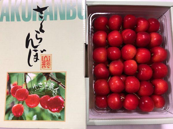 山形県東根市名産のさくらんぼが届きました。