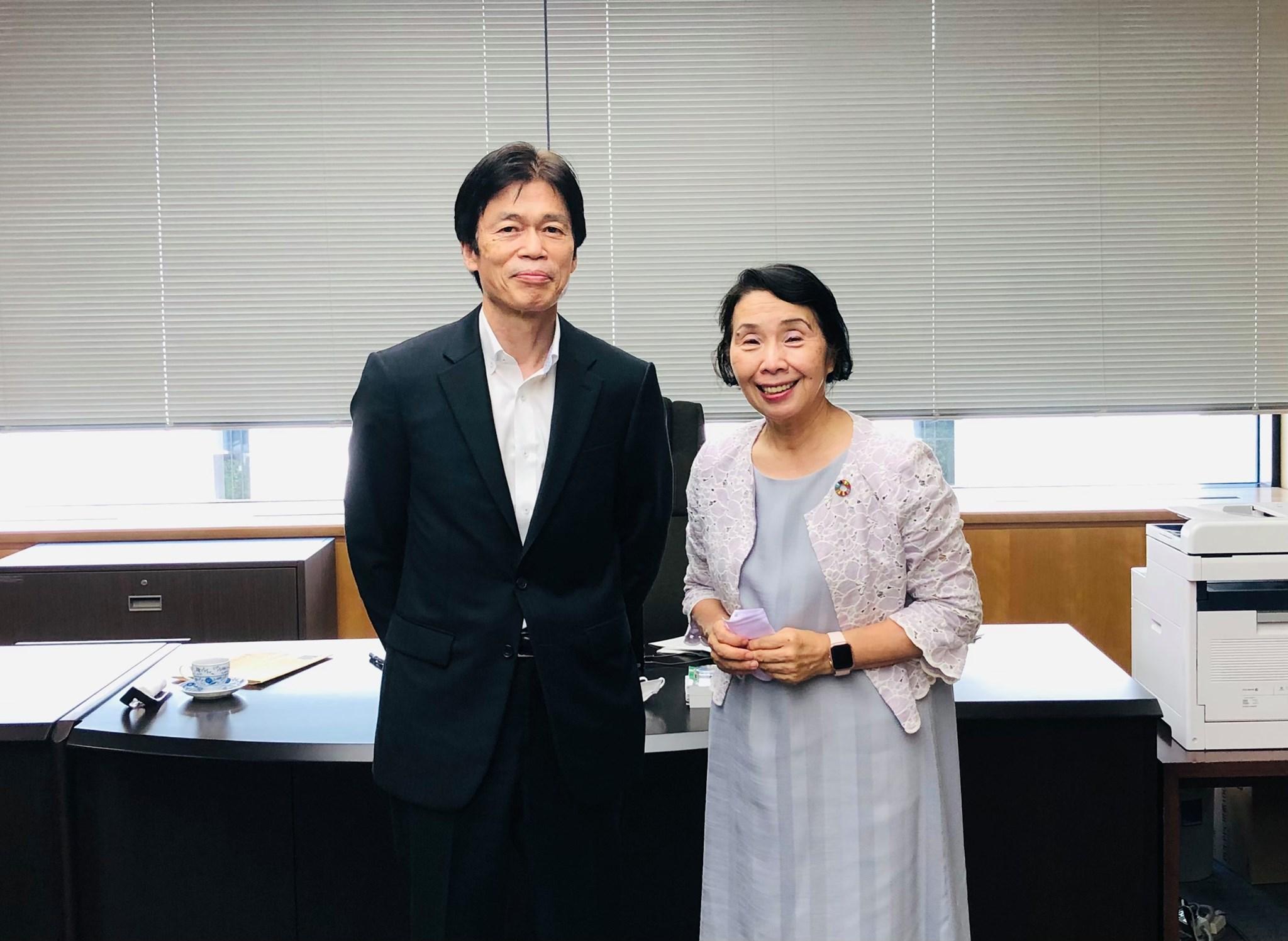 総務省総務事務次官黒田武一郎さんとお話しました。