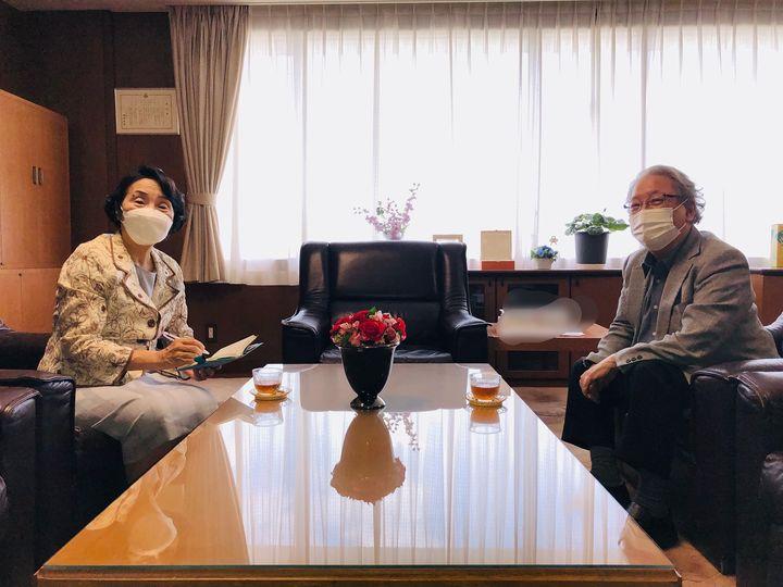 杏林大学の大瀧純一学長と対話しました。