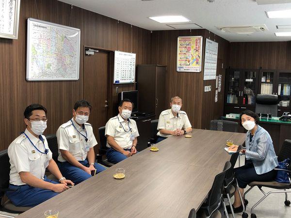 東京消防庁三鷹消防署を訪問しました。