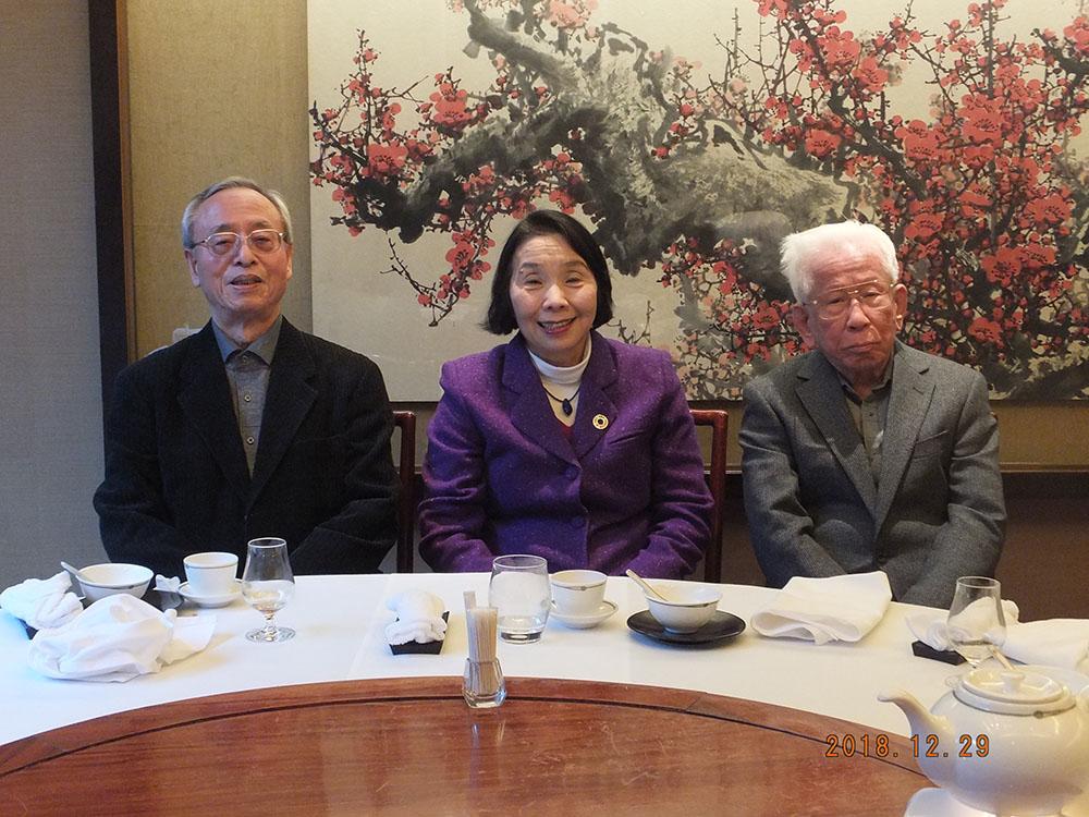 清成忠男先生(右)、大森彌先生(左)とご一緒に
