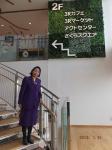 桜環境センターの環境学習コーナーへの階段にて