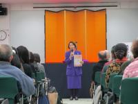 「男女平等参画のためのみたか市民フォーラム」で主催者あいさつ