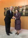 フォーラムで、日本電信電話株式会社代表取締役社長の澤田純氏の基調講演を拝聴し、その後、Smart City 等について懇談