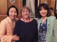 国連のミシェル・バチェレ人権高等弁務官(チリの元大統領)、片山さつき女性活躍担当大臣と